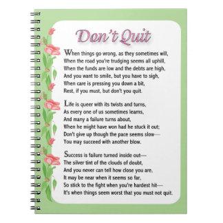 No abandone el poema cuaderno