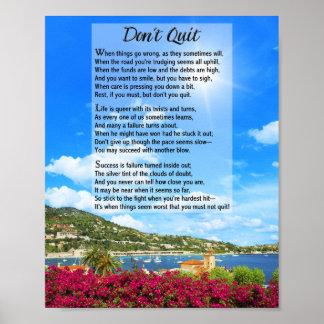 No abandone el poema impresiones