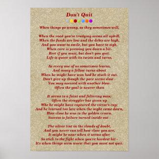 No abandone el poema póster
