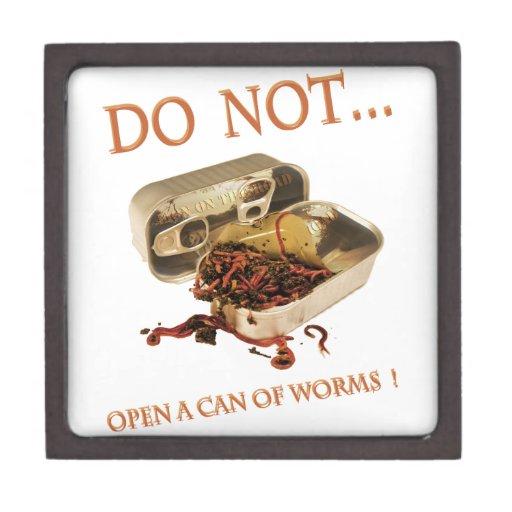 No abra una poder de gusanos cajas de regalo de calidad