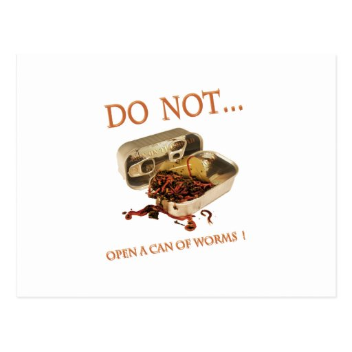 No abra una poder de gusanos postal