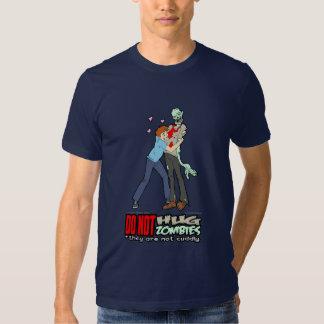 No abrace la camiseta de los zombis polera