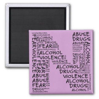 No Abuse, Drugs, or Fear (Letter N - Part of Set) Magnets