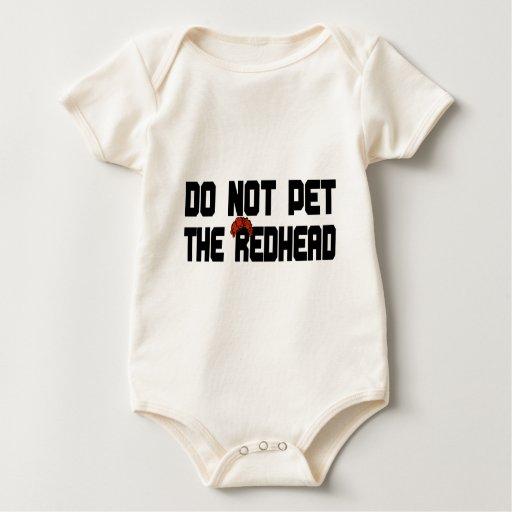 No acaricie el Redhead (con la peluca) Body De Bebé