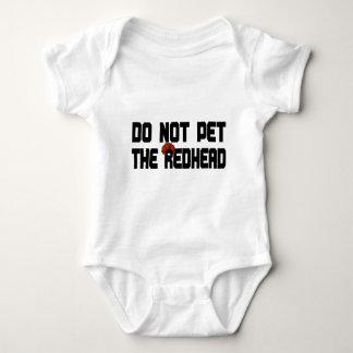 No acaricie el Redhead (con la peluca) Body Para Bebé