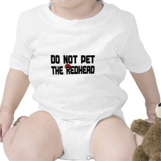 No acaricie el Redhead (con la peluca) Traje De Bebé