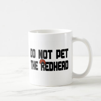 No acaricie el Redhead (con la peluca) Taza De Café