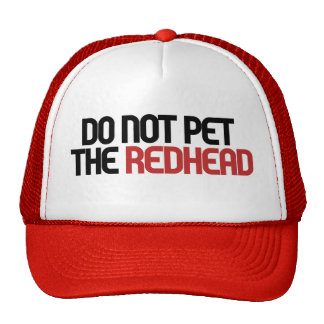 No acaricie el redhead gorro