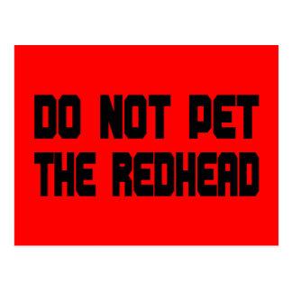 No acaricie el Redhead Tarjetas Postales