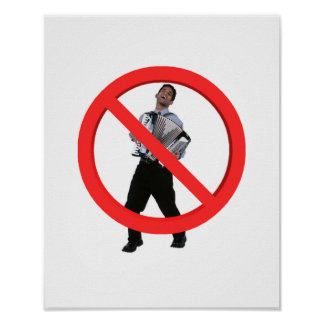 No Accordions Poster