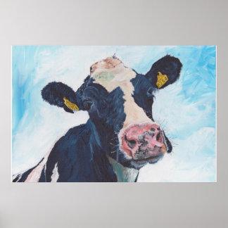 No acobarde ninguna vaca frisia irlandesa 01. 0254 póster