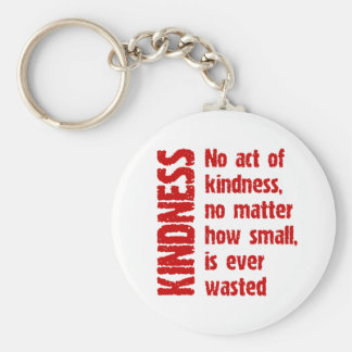 NO ACT OF KINDNESS BASIC ROUND BUTTON KEYCHAIN