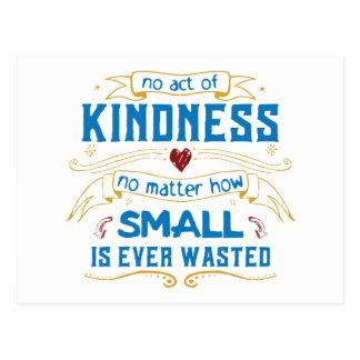 No Act of Kindness Postcard