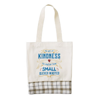 No Act of Kindness Zazzle HEART Tote Bag
