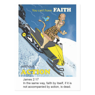 No Action, No Faith Postcard