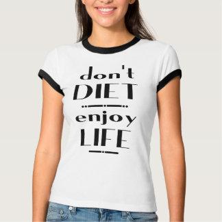 No adiete disfrutan de vida poleras