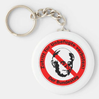No admission for unauthorized ones  • The Basic Round Button Keychain
