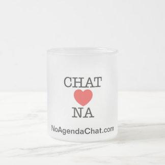 No Agenda Chat 10 Oz Frosted Glass Coffee Mug