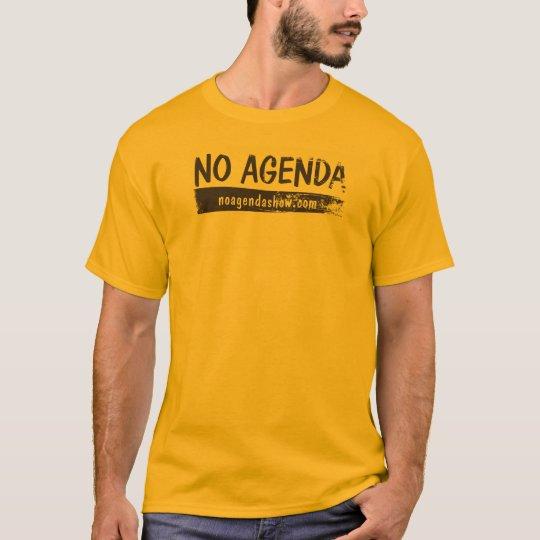 No-Agenda-Name-Retro Orange T-Shirt