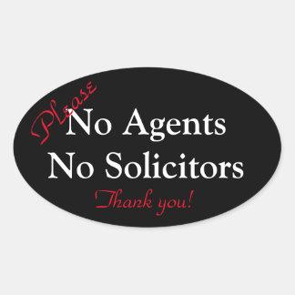 No Agent / No Solicitor Sticker