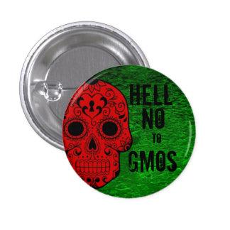 No al botón de los GMOs Pin Redondo De 1 Pulgada