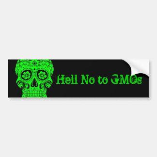 No al bumpersticker de los GMOs Pegatina Para Auto
