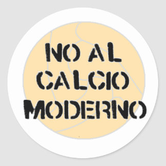 no al calcio moderno sticker 2