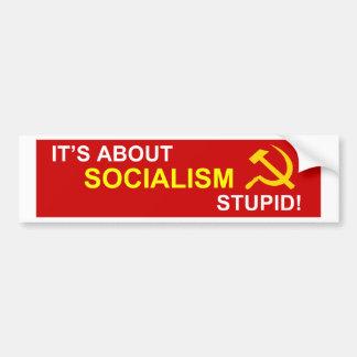 No al socialismo etiqueta de parachoque