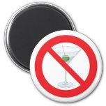 No Alcohol - Martini Fridge Magnet
