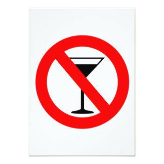 No Alcohol Sign Card