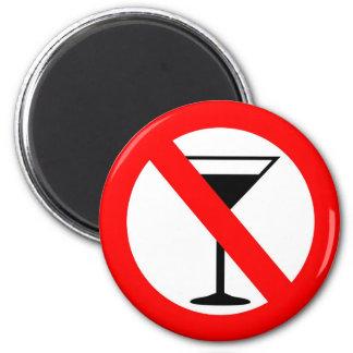 No Alcohol Sign Magnet