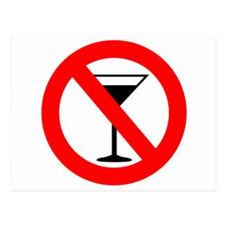 No Alcohol Sign Postcard