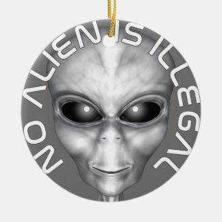 No Alien Is Illegal Ceramic Ornament