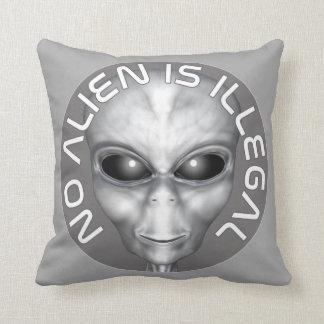 No Alien Is Illegal Throw Pillow