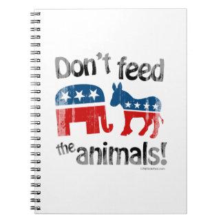 No alimente a animales la política de partidos libretas espirales
