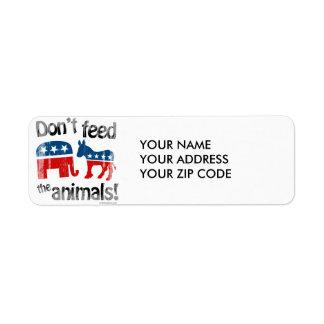 No alimente a animales la política de partidos etiqueta de remite