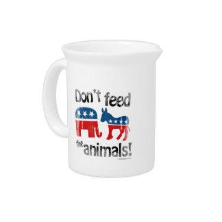 No alimente a animales la política de partidos jarrón