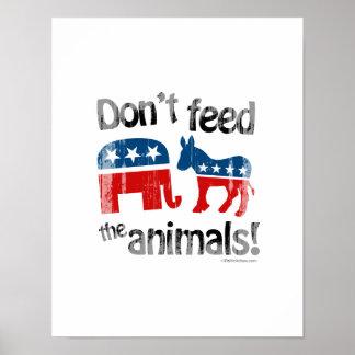 No alimente a animales la política de partidos impresiones