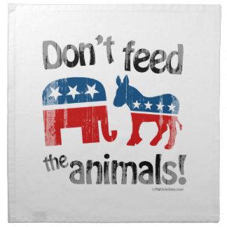 No alimente a animales la política de partidos servilleta