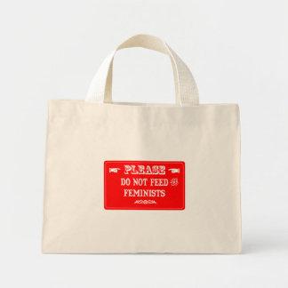 No alimente a las feministas bolsas de mano
