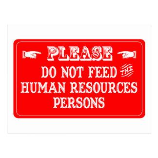 No alimente a las personas con muchos recursos hum postales