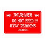 No alimente a las personas de la HVAC Postal