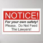 ¡No alimente a los abogados! Poster