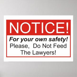 ¡No alimente a los abogados! Póster