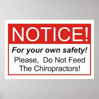 ¡No alimente a los Chiropractors! Póster