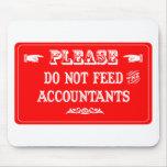 No alimente a los contables tapete de ratón