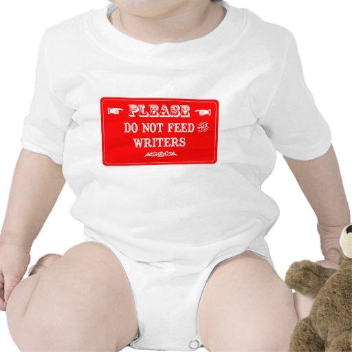 No alimente a los escritores traje de bebé