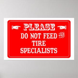 No alimente a los especialistas del neumático impresiones