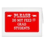 No alimente a los estudiantes de postgrado felicitaciones