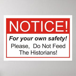 ¡No alimente a los historiadores! Impresiones